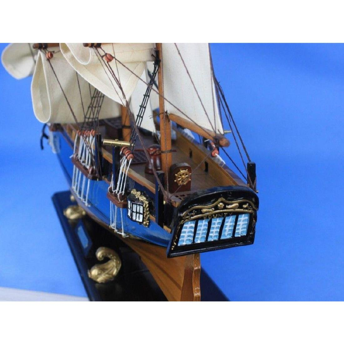 "Wooden HMS Bounty Tall Model Ship 34"" - 7"