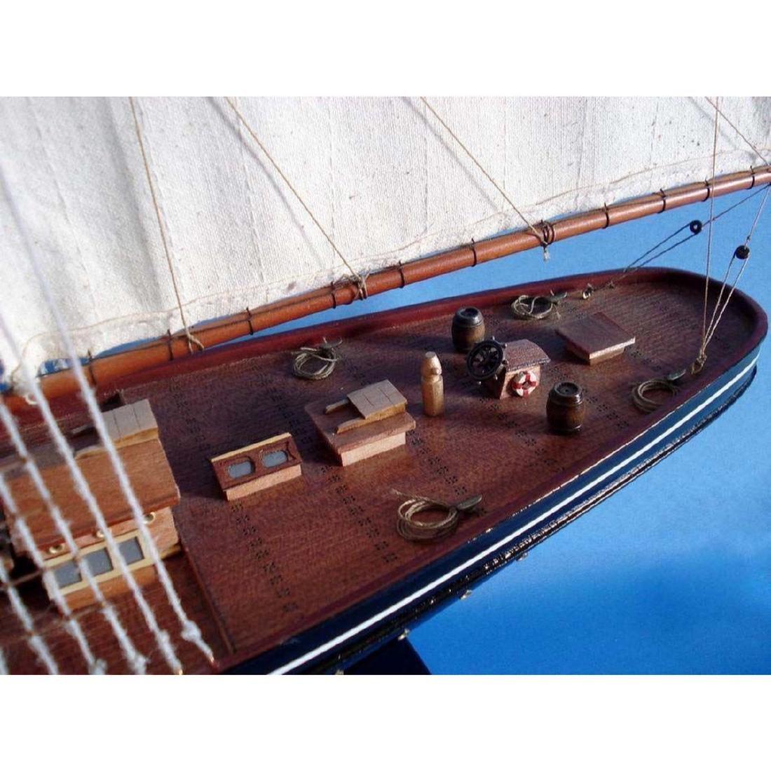 "Wooden Atlantic Limited Model Sailboat 32"" - 10"