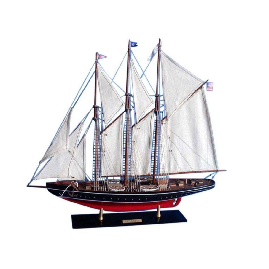 "Wooden Atlantic Limited Model Sailboat 32"""