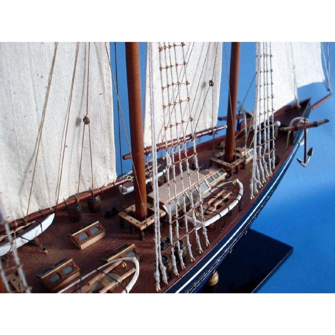 "Wooden Atlantic Limited Model Sailboat 32"" - 4"
