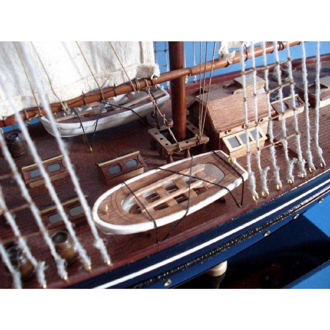 "Wooden Atlantic Limited Model Sailboat 32"" - 7"