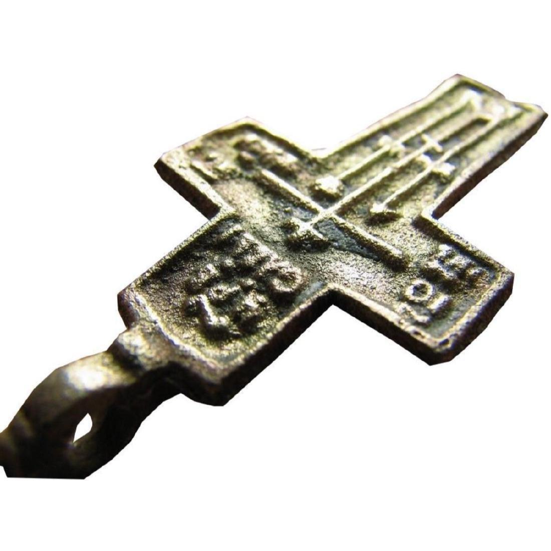 Rare Prayer Relief Big Late Medieval Orthodox Bronze - 2