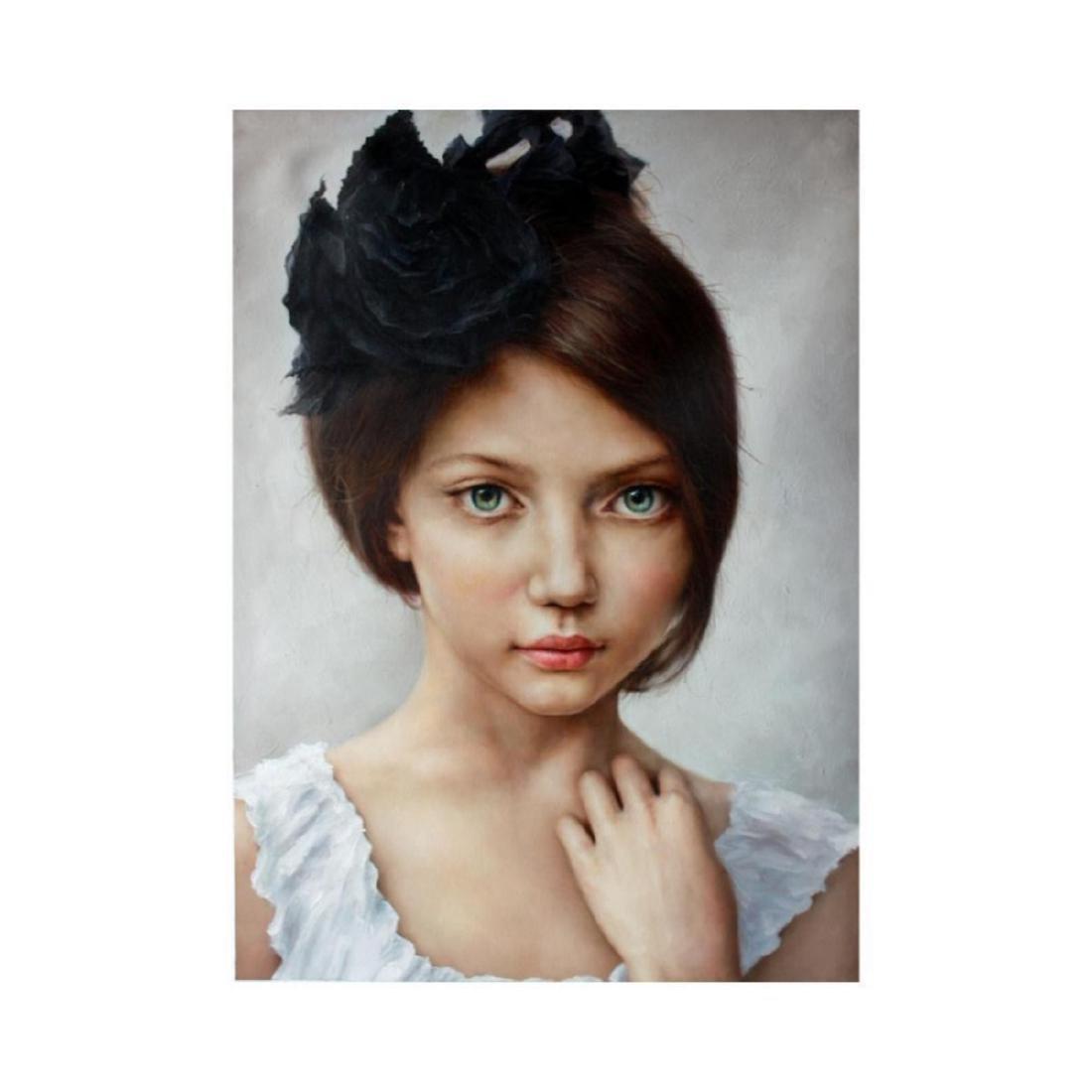 21st Century Photorealism, Signed Portrait, Little Girl
