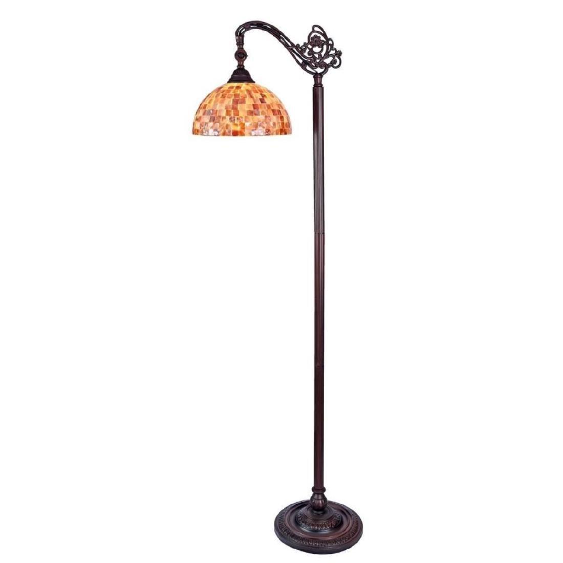 Tiffany-style Reading Floor Lamp - 2