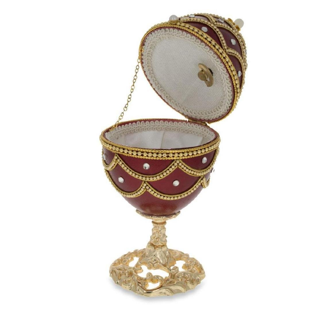 """Faberge Inspired 5.4"""" Real Eggshell Royal Inspired"""