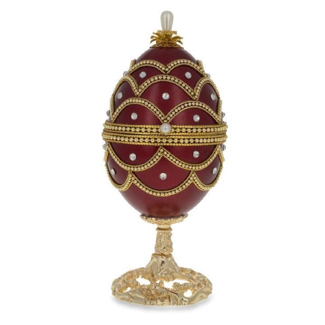 """Faberge Inspired 5.4"""" Real Eggshell Royal Inspired - 2"""