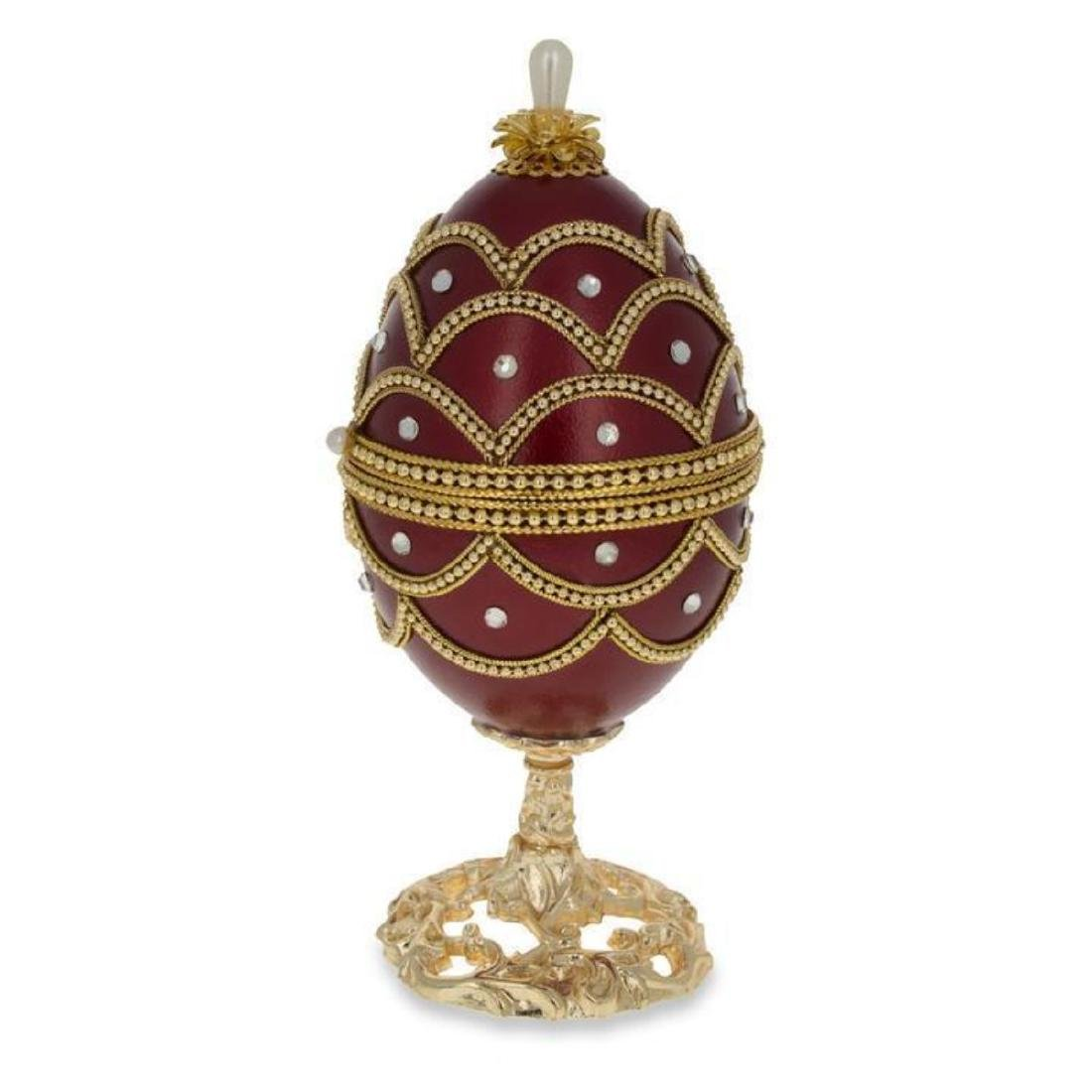 """Faberge Inspired 5.4"""" Real Eggshell Royal Inspired - 3"""