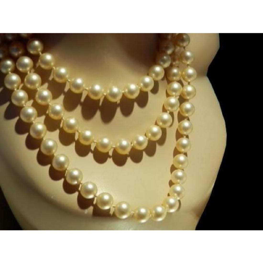 """Vintage Art Deco Flapper Style Faux Pearl 29"""" Necklace - 2"""