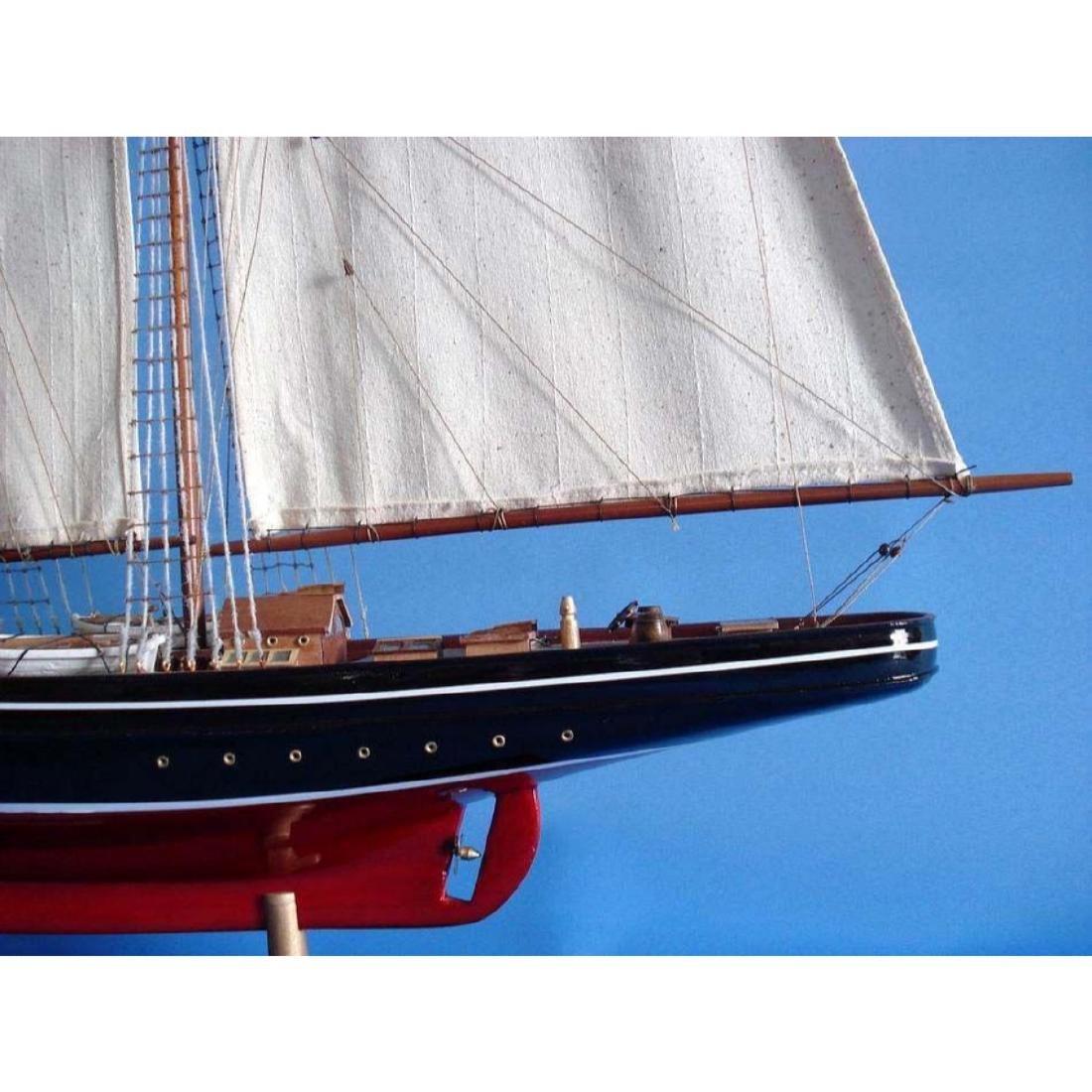 "Wooden Atlantic Limited Model Sailboat 32"" - 8"