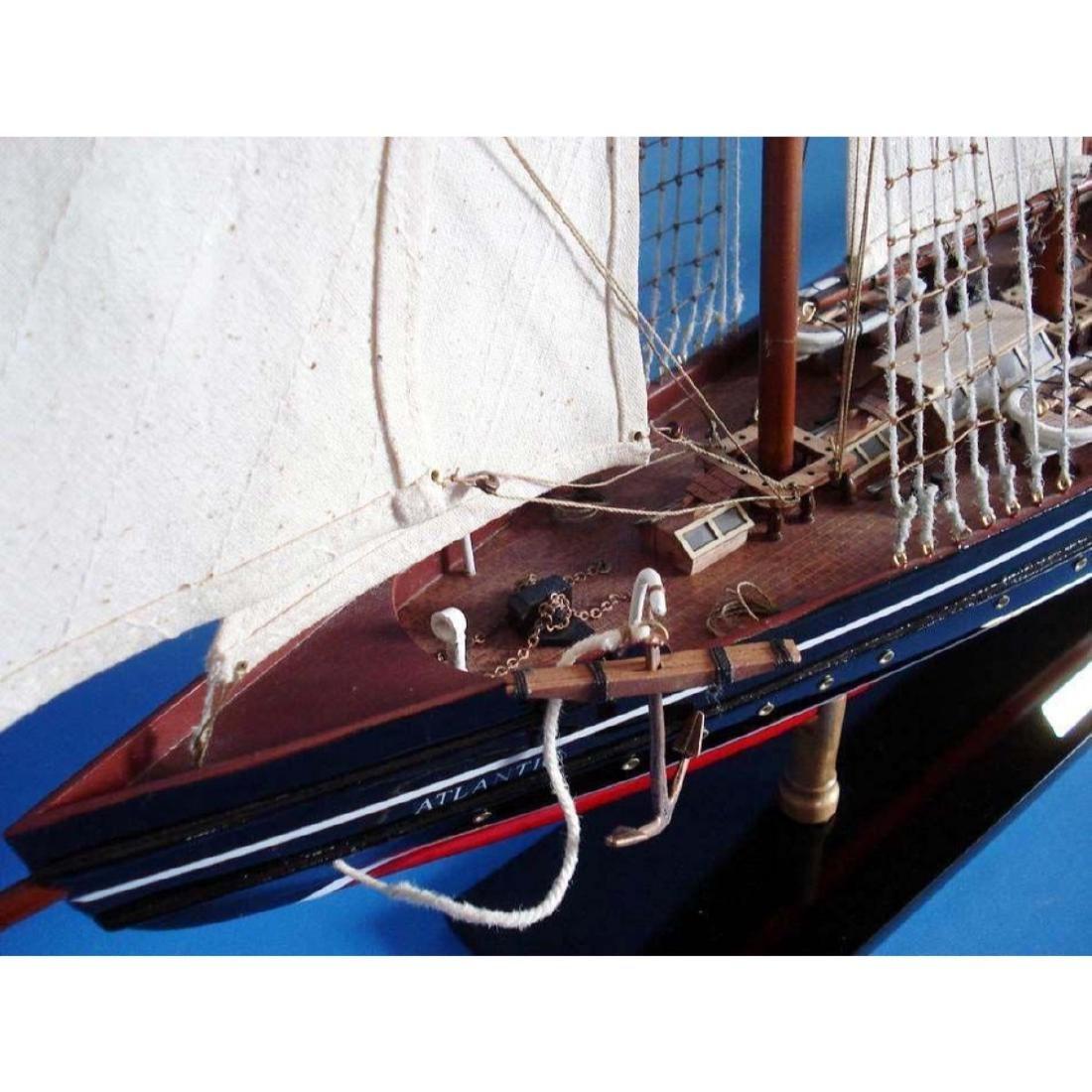"Wooden Atlantic Limited Model Sailboat 32"" - 9"