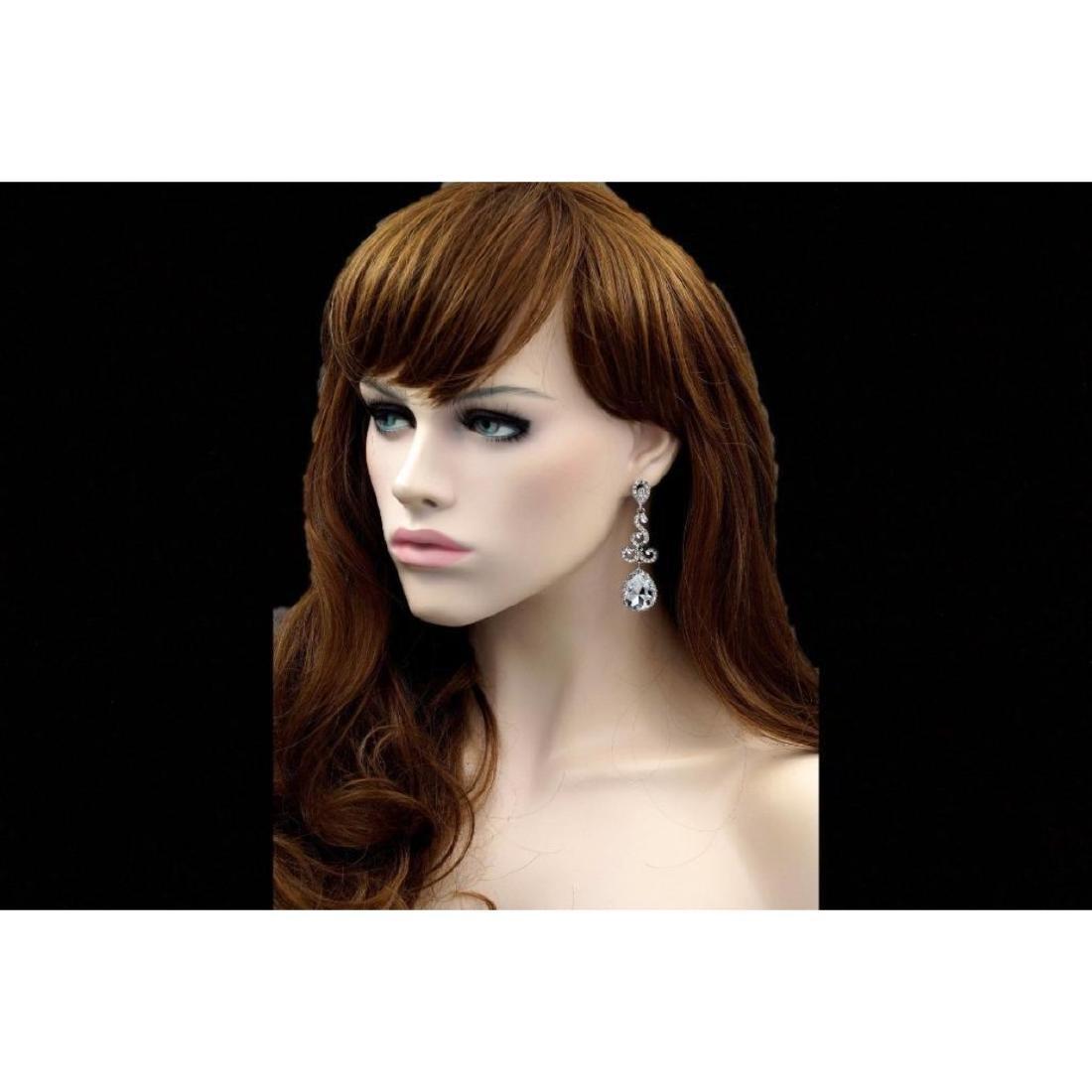 Czech Crystal Bridal Drop Earrings