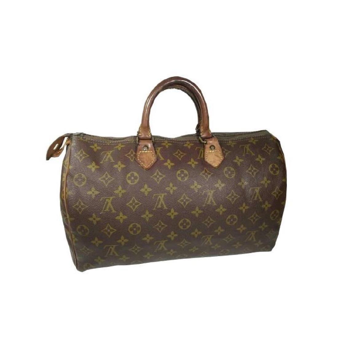 Auth Louis Vuitton Vintage Handbag Speedy 35 Monogram