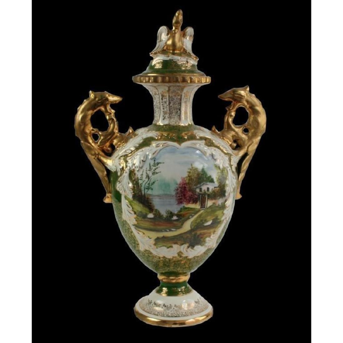 Monumental Portuguese Porcelain Urn