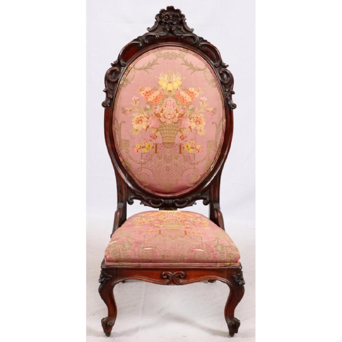 Hand Carved Rosewood Slipper Chair