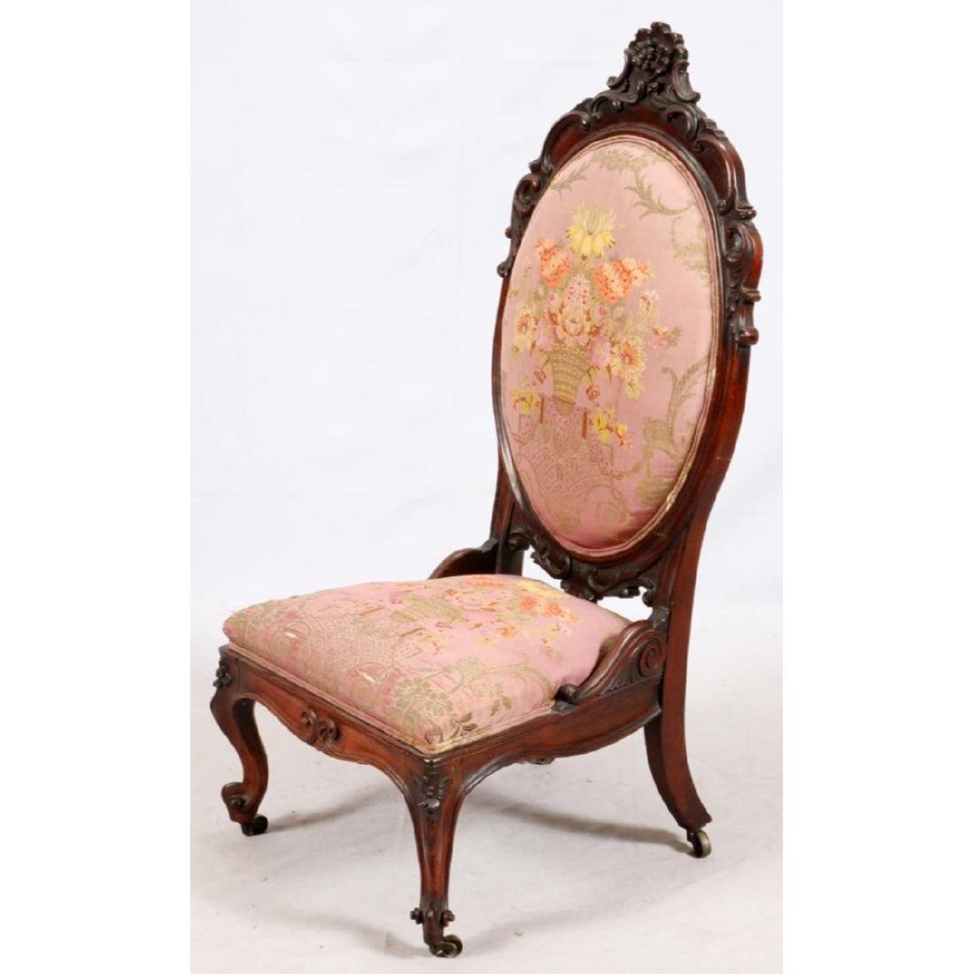 Hand Carved Rosewood Slipper Chair - 2