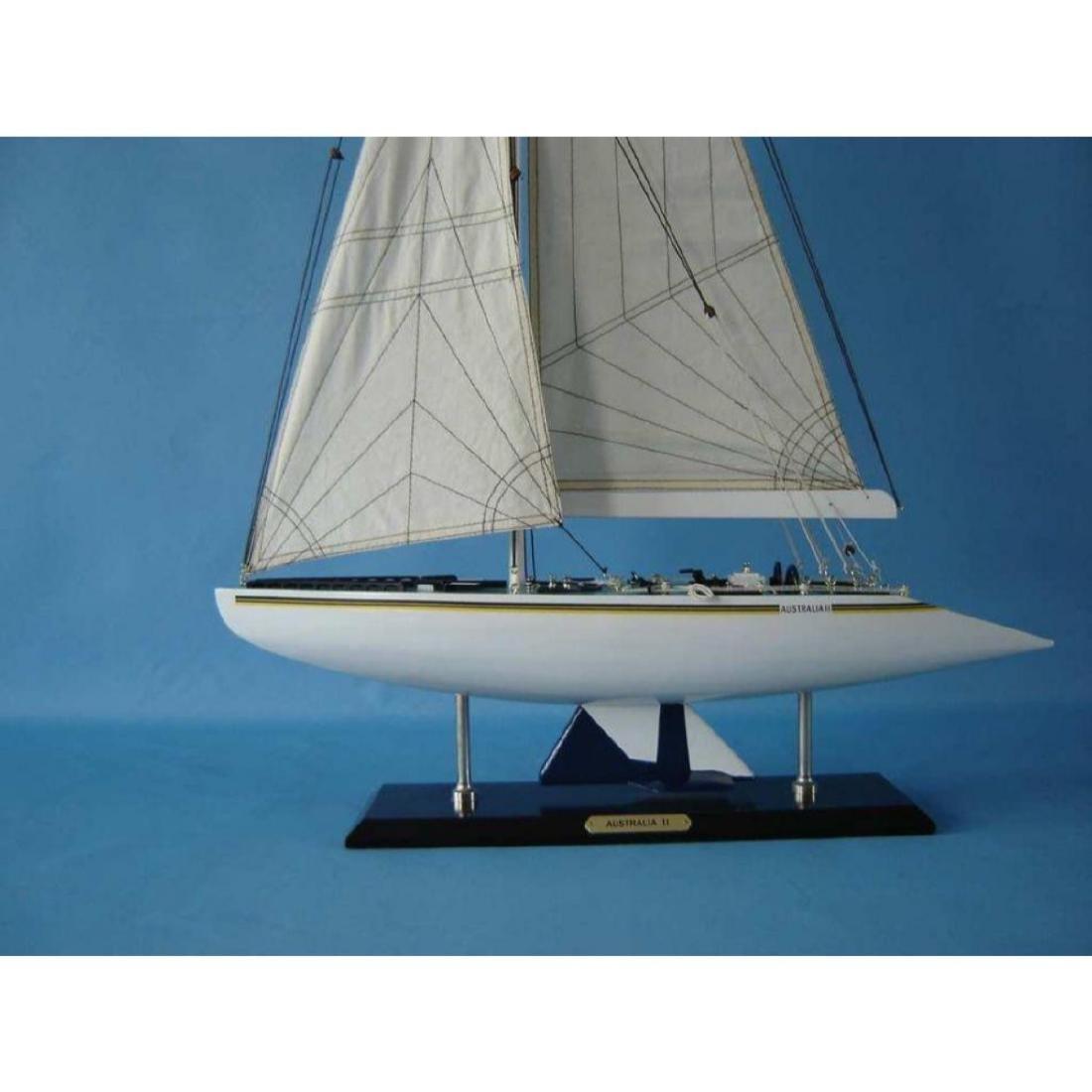 "Wooden Australia 2 Limited Model Yacht 40"" - 2"