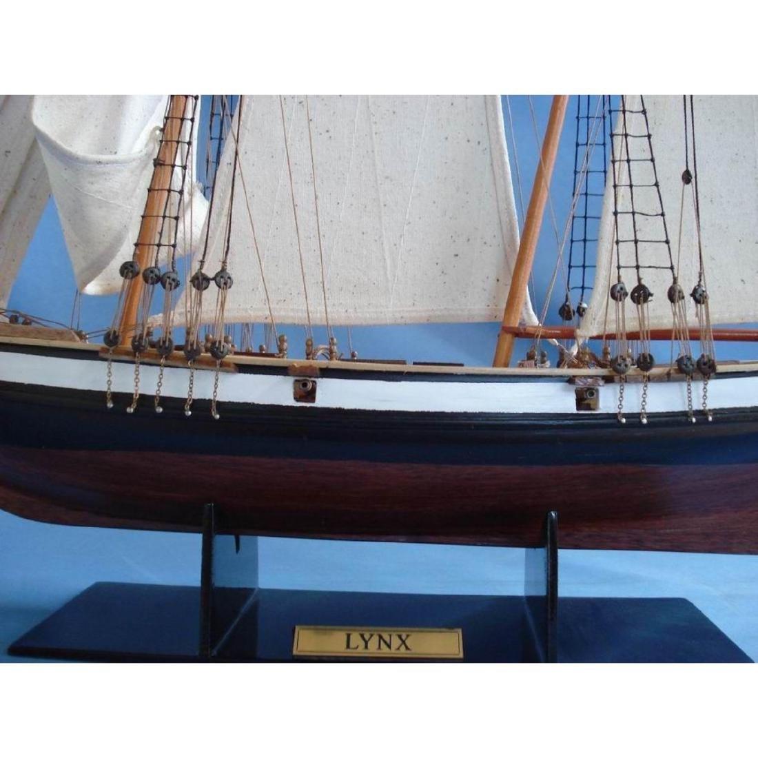 "Wooden Lynx Model Ship 24"" - 3"
