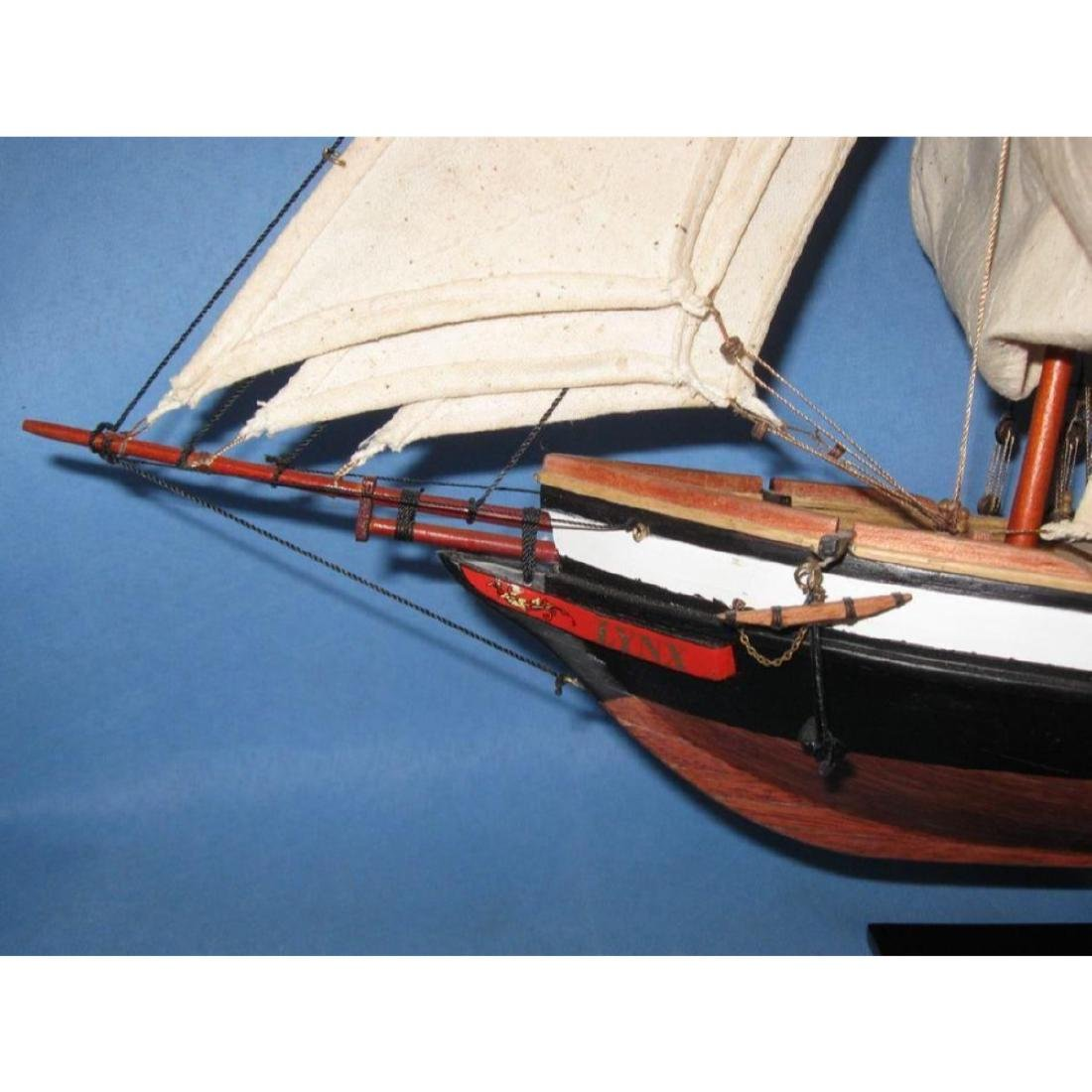 "Wooden Lynx Model Ship 24"" - 9"