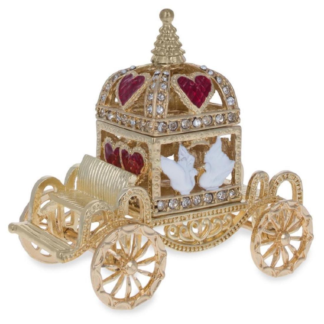 Royal Coronation Coach with Doves Trinket Box Figurine