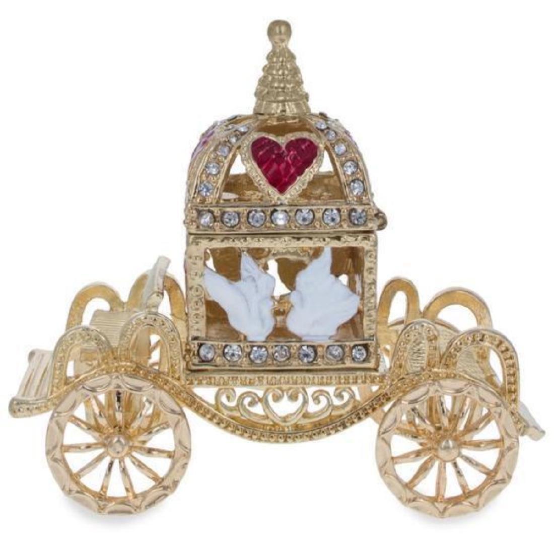 Royal Coronation Coach with Doves Trinket Box Figurine - 2