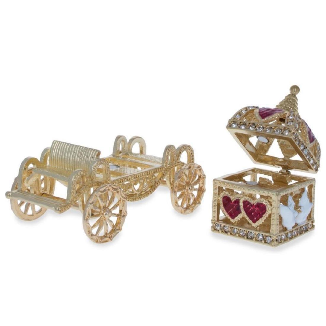 Royal Coronation Coach with Doves Trinket Box Figurine - 3
