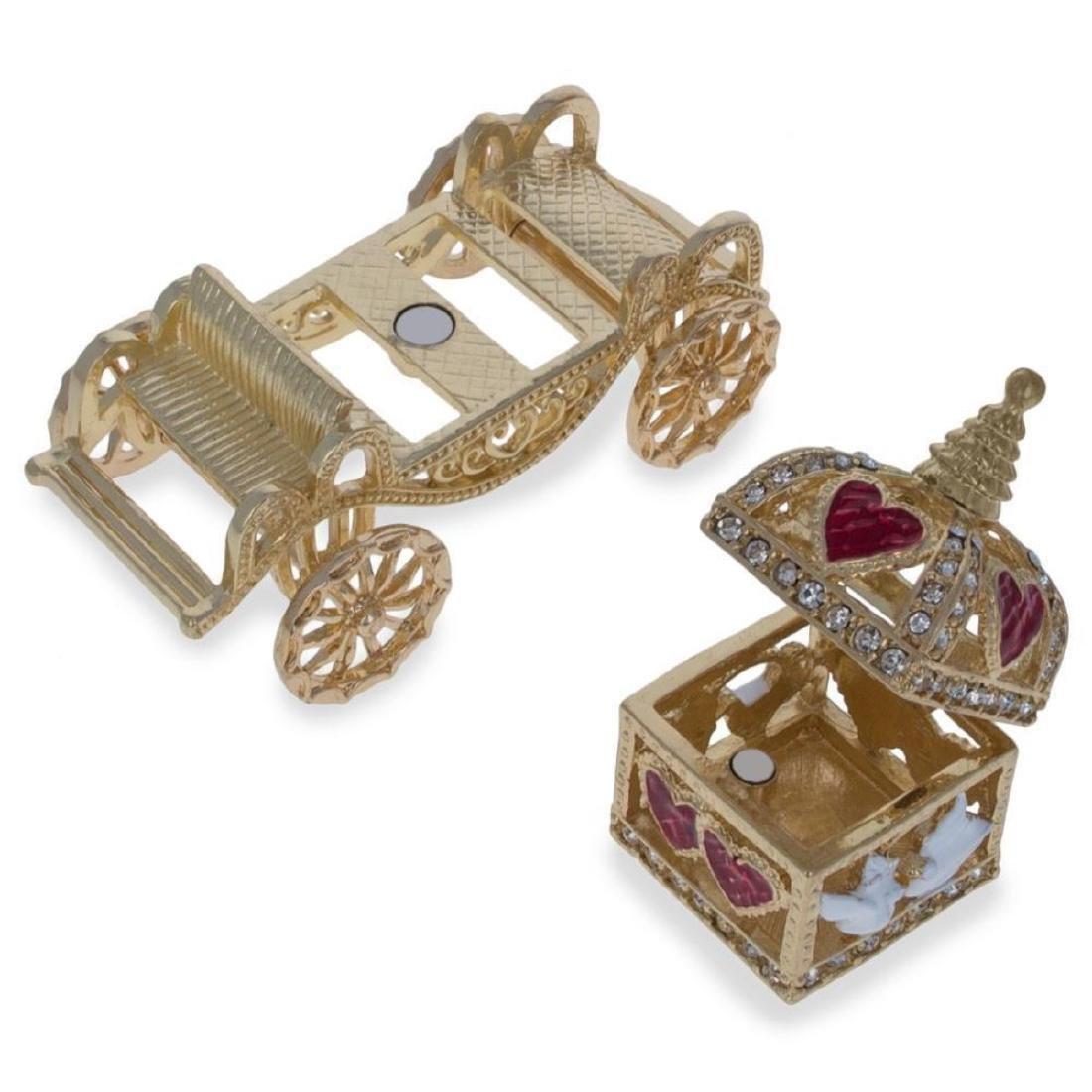 Royal Coronation Coach with Doves Trinket Box Figurine - 4