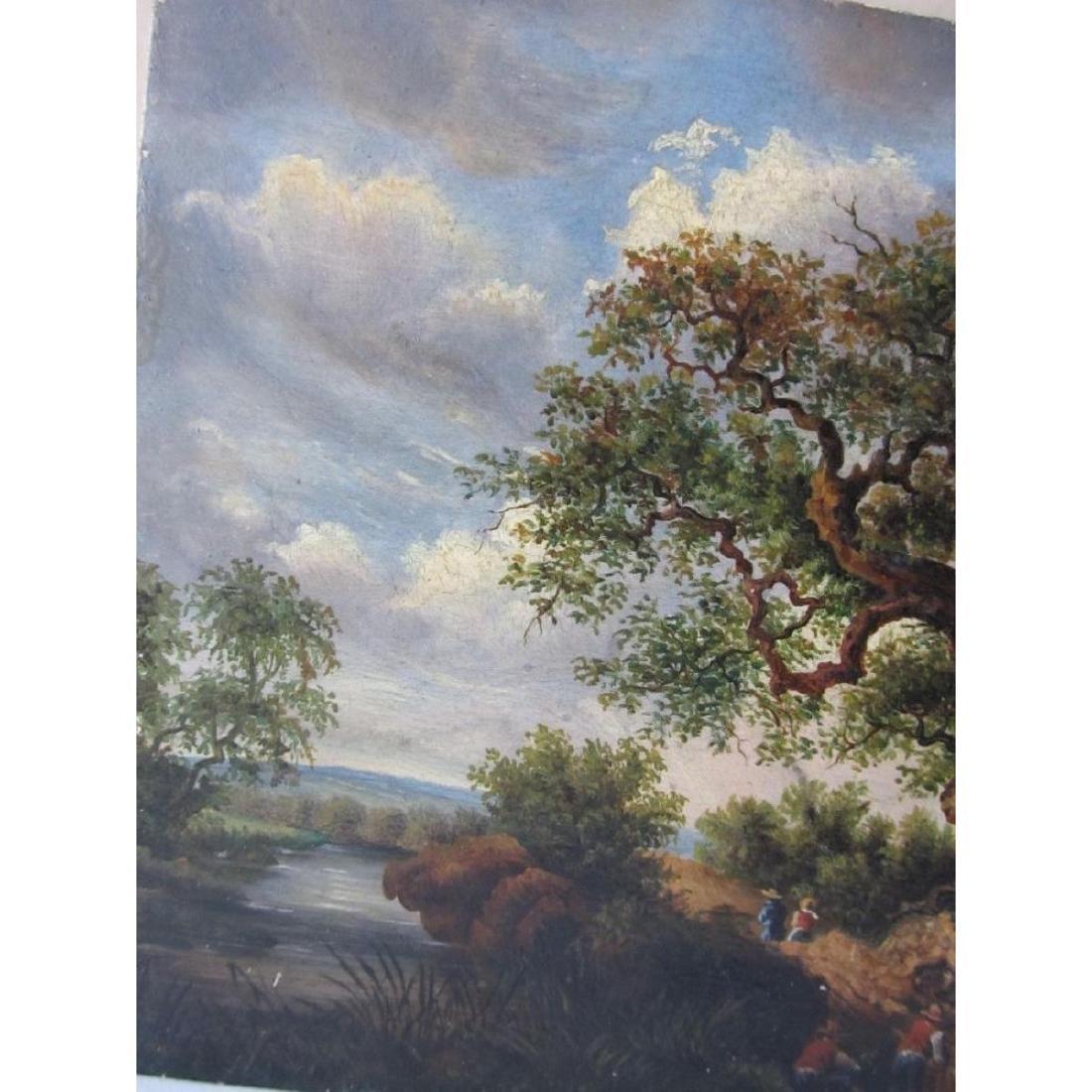 1878 Bucolic Oil Painting On Board Hoffmann - 3