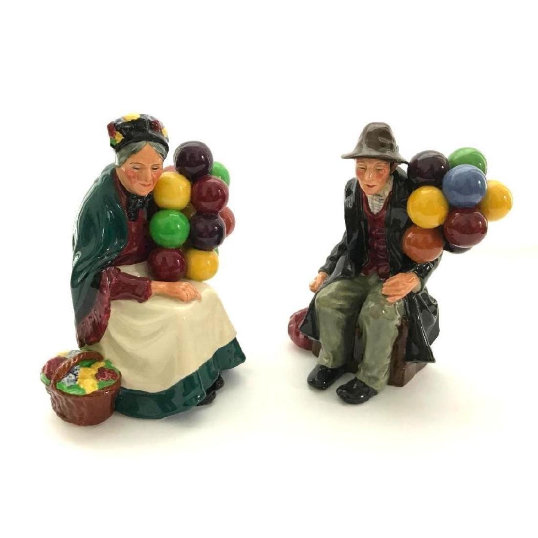 Pair of Retired Royal Doulton Balloon Sellers Porcelain