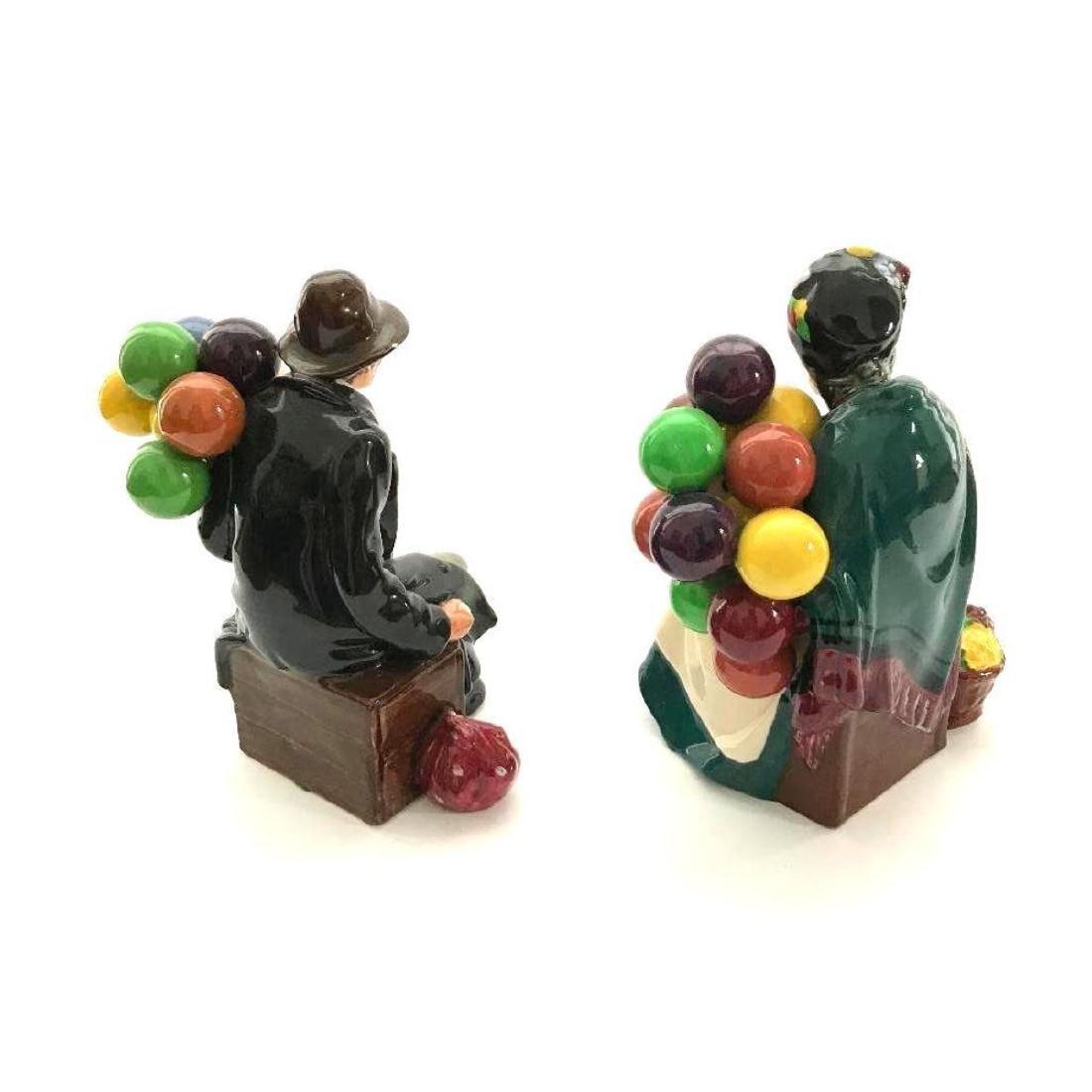 Pair of Retired Royal Doulton Balloon Sellers Porcelain - 5