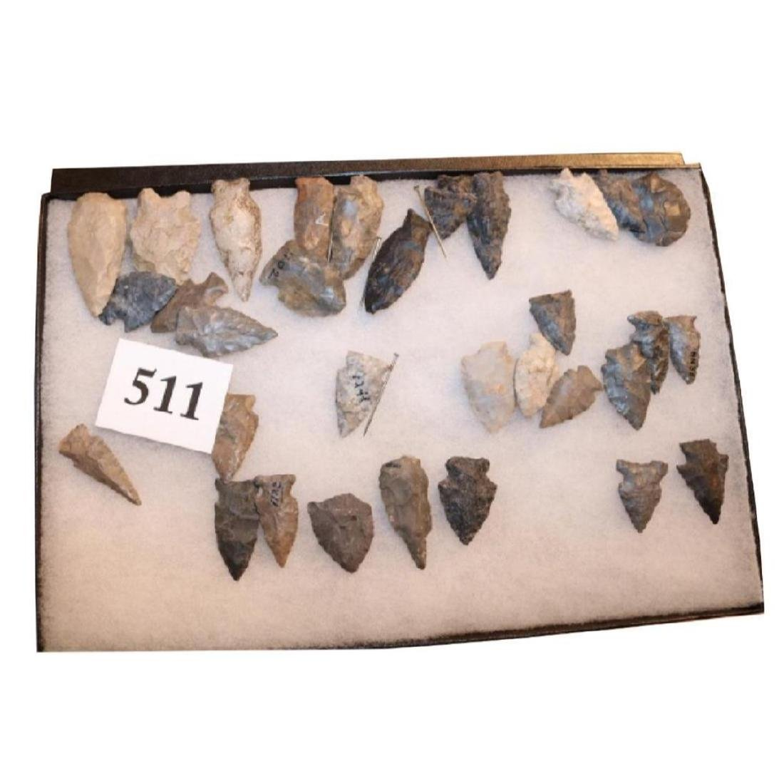 Frame With 32 Flint Points