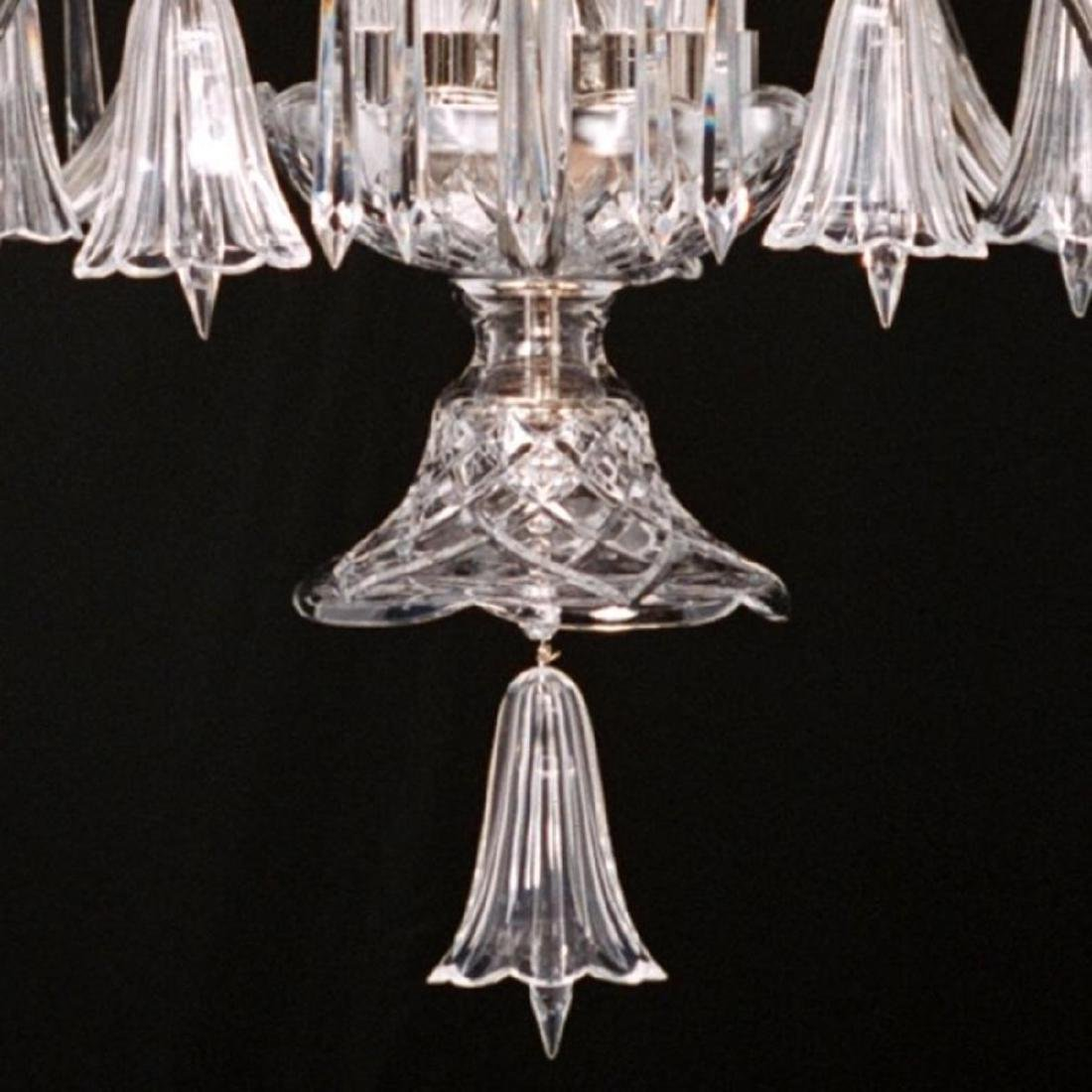 Crystal & Nickel Five Light Bell Chandelier - 3