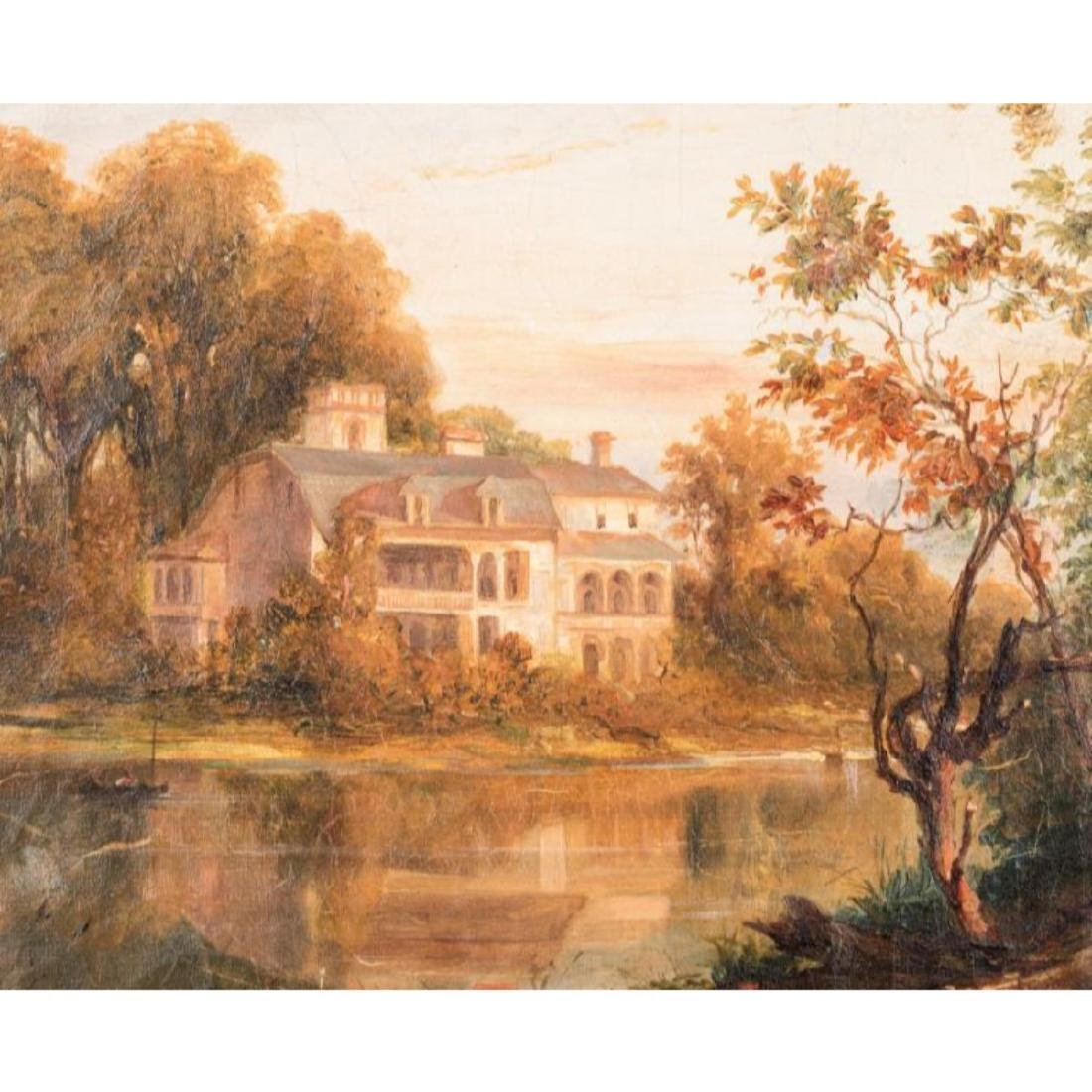 Continental School Landscape with Mansion - 6