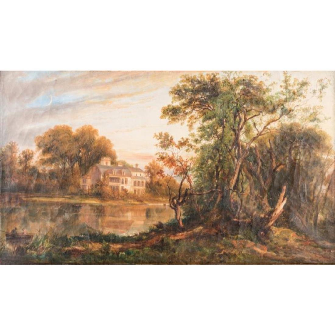 Continental School Landscape with Mansion - 8