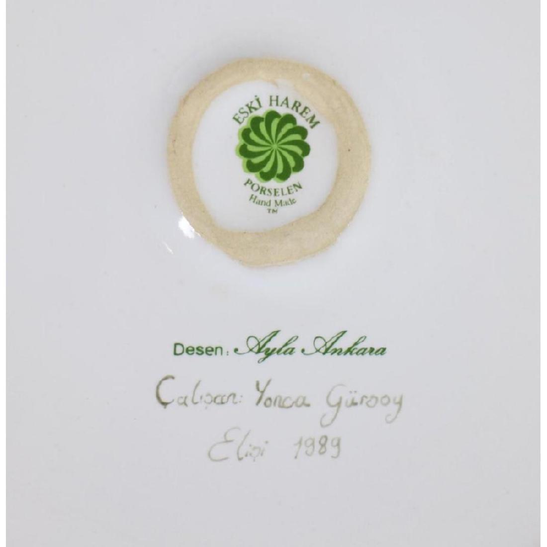 Eski Harem Yonca Gursoy Painted Porcelain Charger - 2