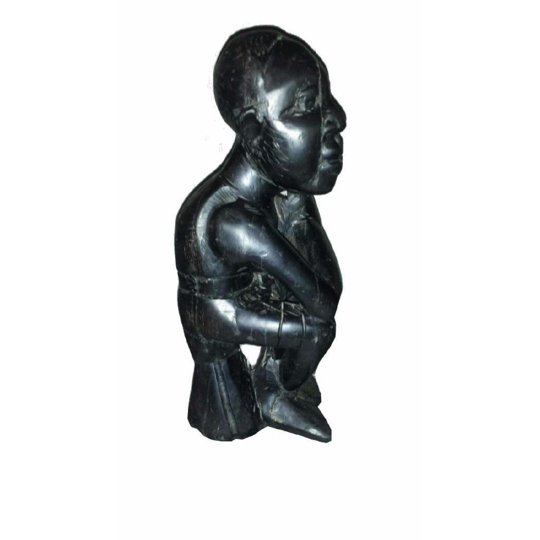 Wood Carved Sculpture Thinking Man - 3