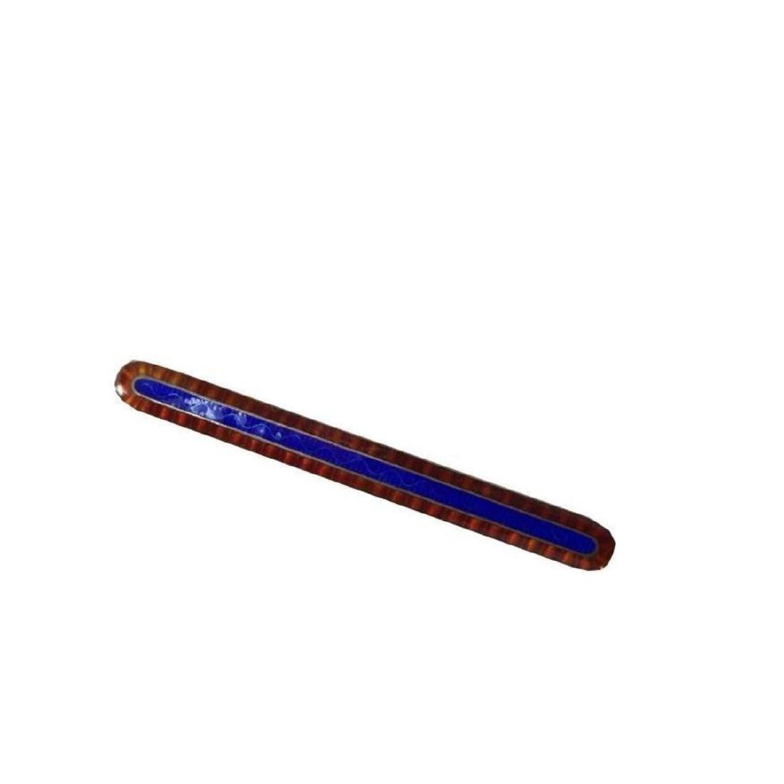 Art Deco Sterling Guilloche Enamel Brooch Pin