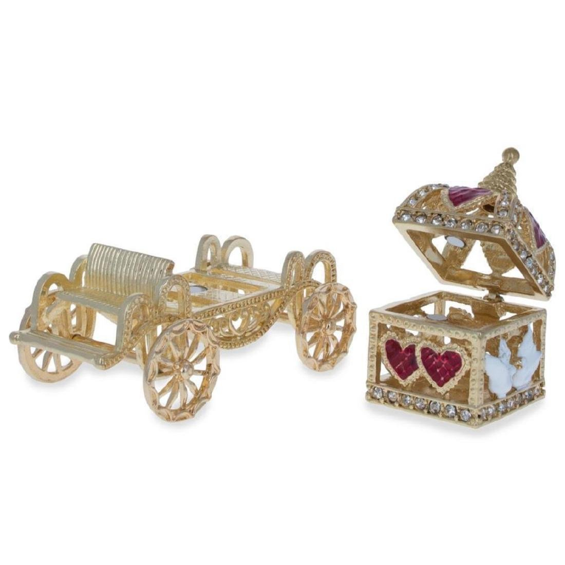 Royal Coronation Coach with Doves Trinket Box Figurine - 3