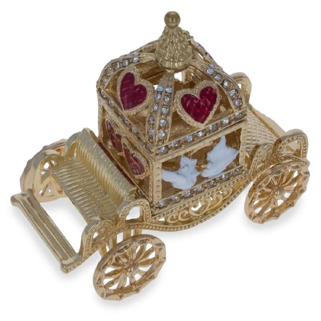 Royal Coronation Coach with Doves Trinket Box Figurine - 5