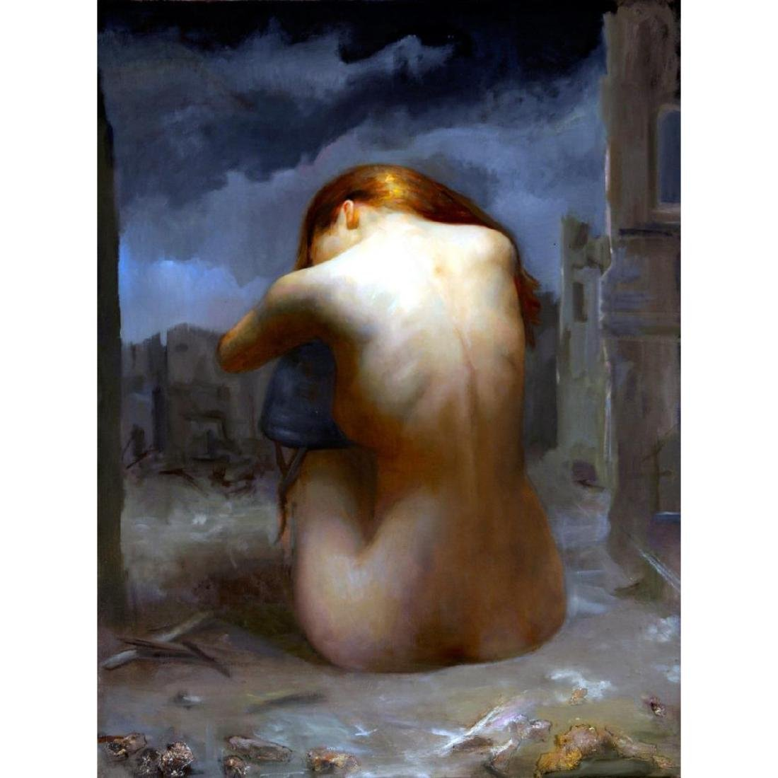 8 X 6 Vivid Art Nude Juliette Ceramic Mural Backsplash