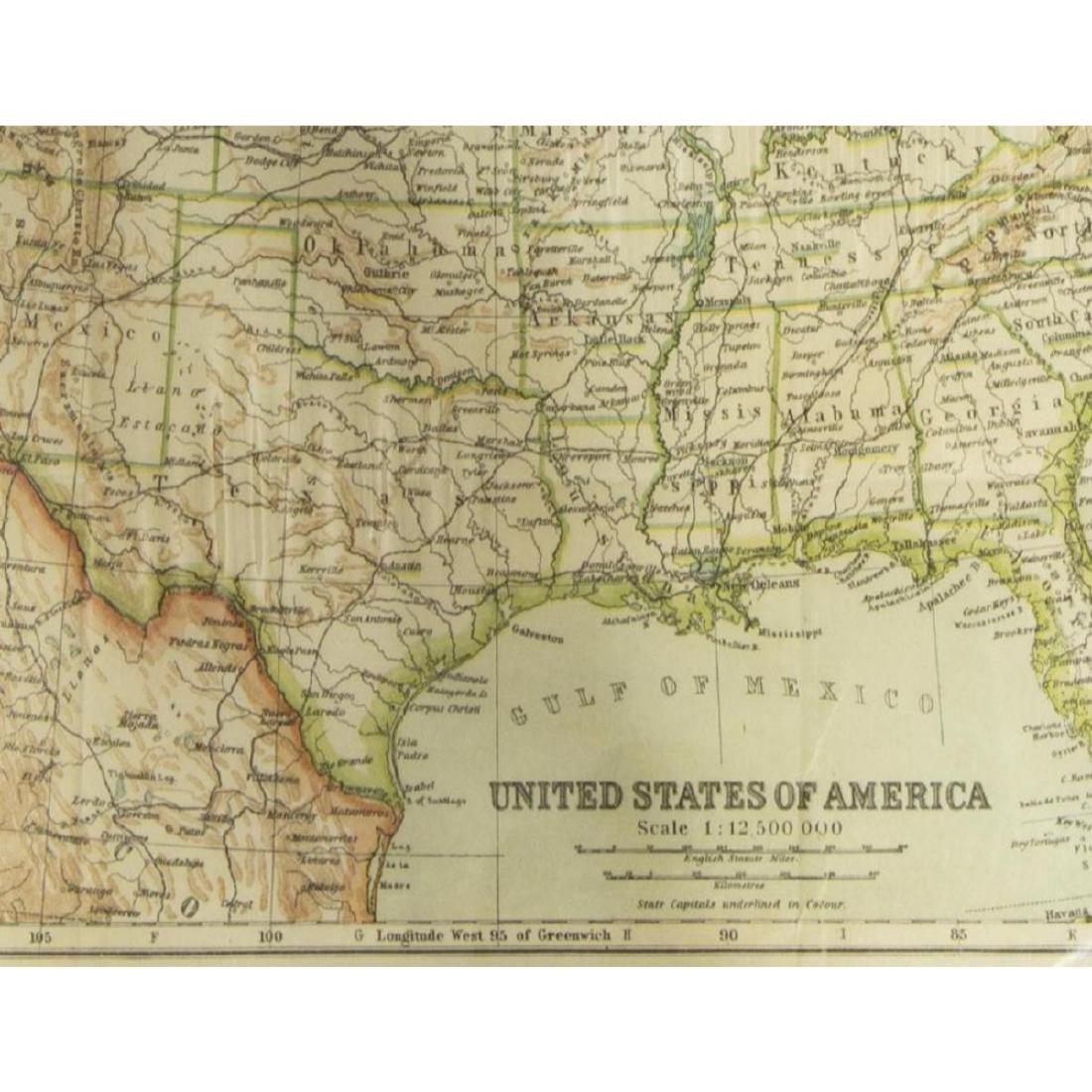 (2) United States & North America, 1910 Maps - 3