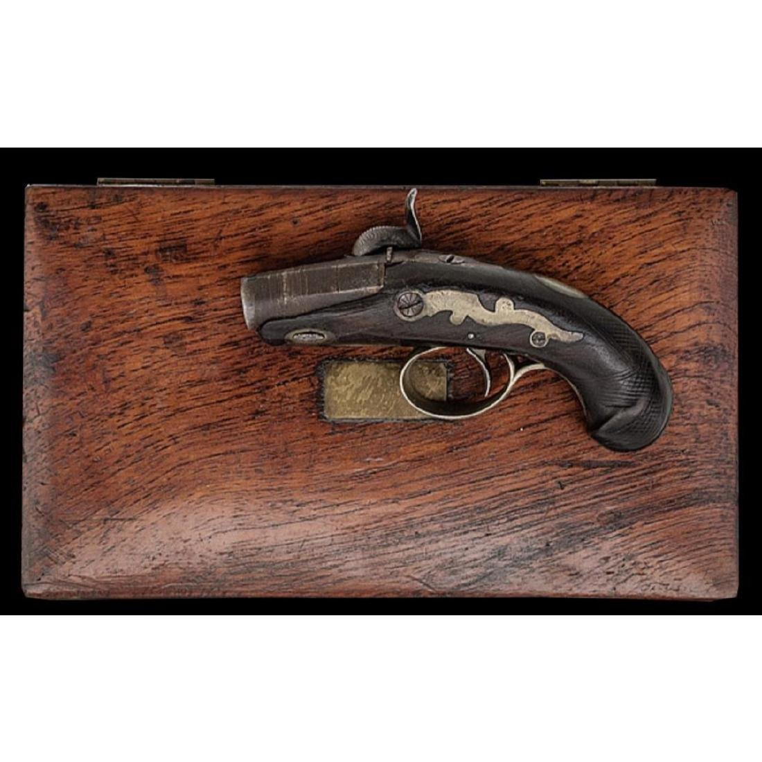"1830's Cased ""peanut"" Derringer - 2"