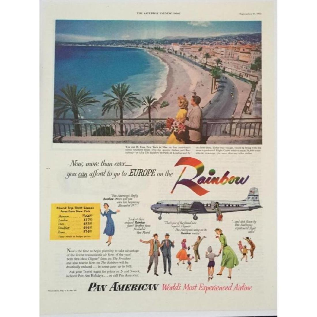 1952 Pan American Airlines European Travel Ad