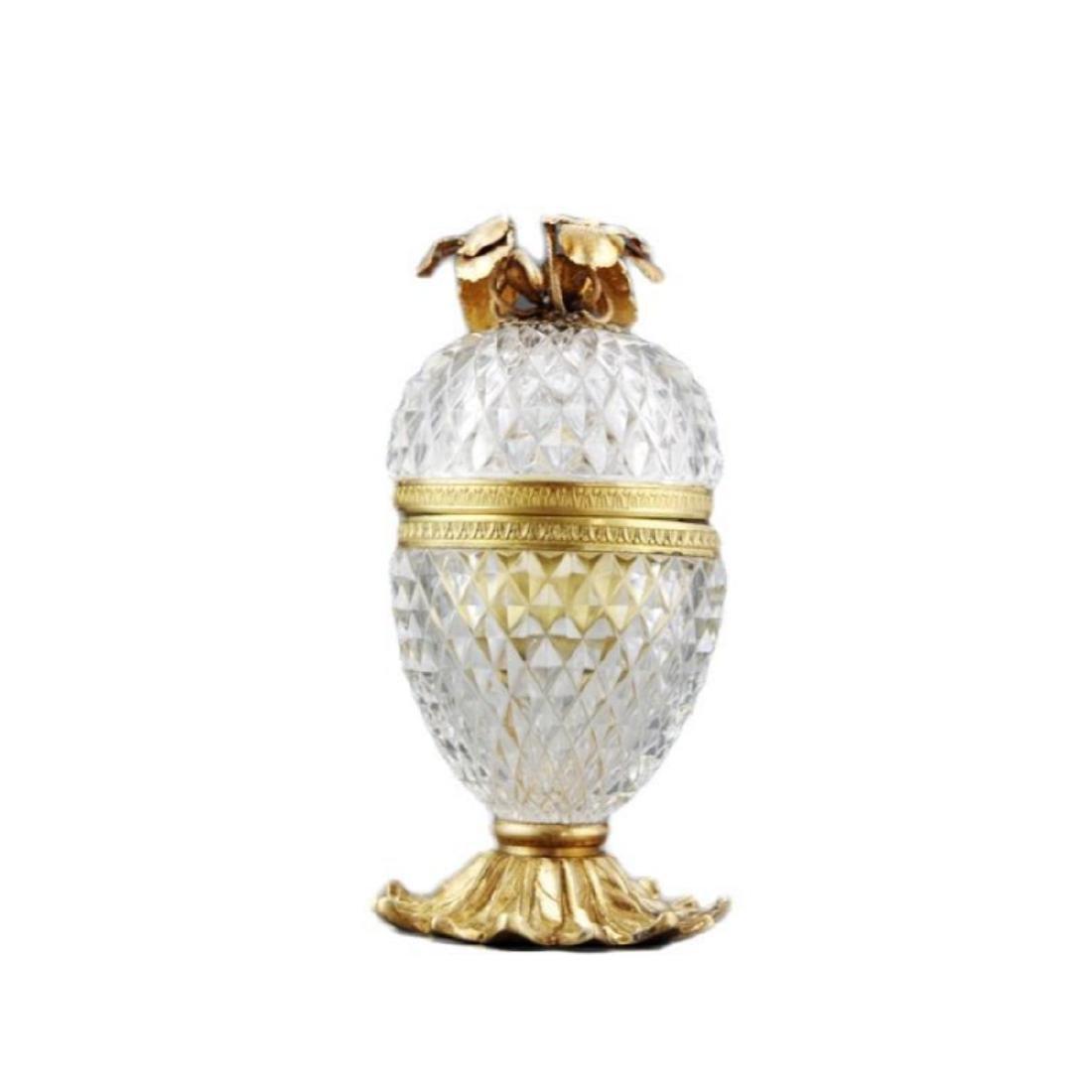 French Cut Crystal Jewel Casket Trinket Box