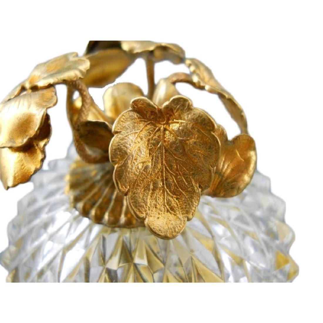 French Cut Crystal Jewel Casket Trinket Box - 3