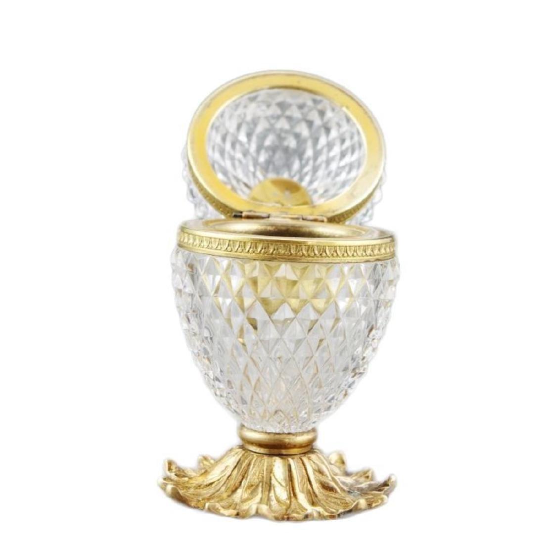 French Cut Crystal Jewel Casket Trinket Box - 4