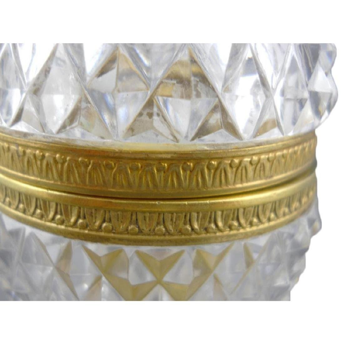 French Cut Crystal Jewel Casket Trinket Box - 5
