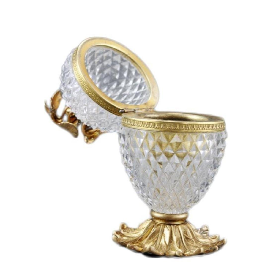 French Cut Crystal Jewel Casket Trinket Box - 6