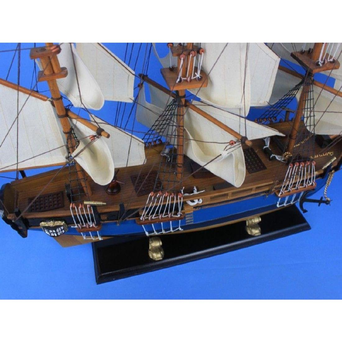"Wooden HMS Bounty Tall Model Ship 34"" - 10"