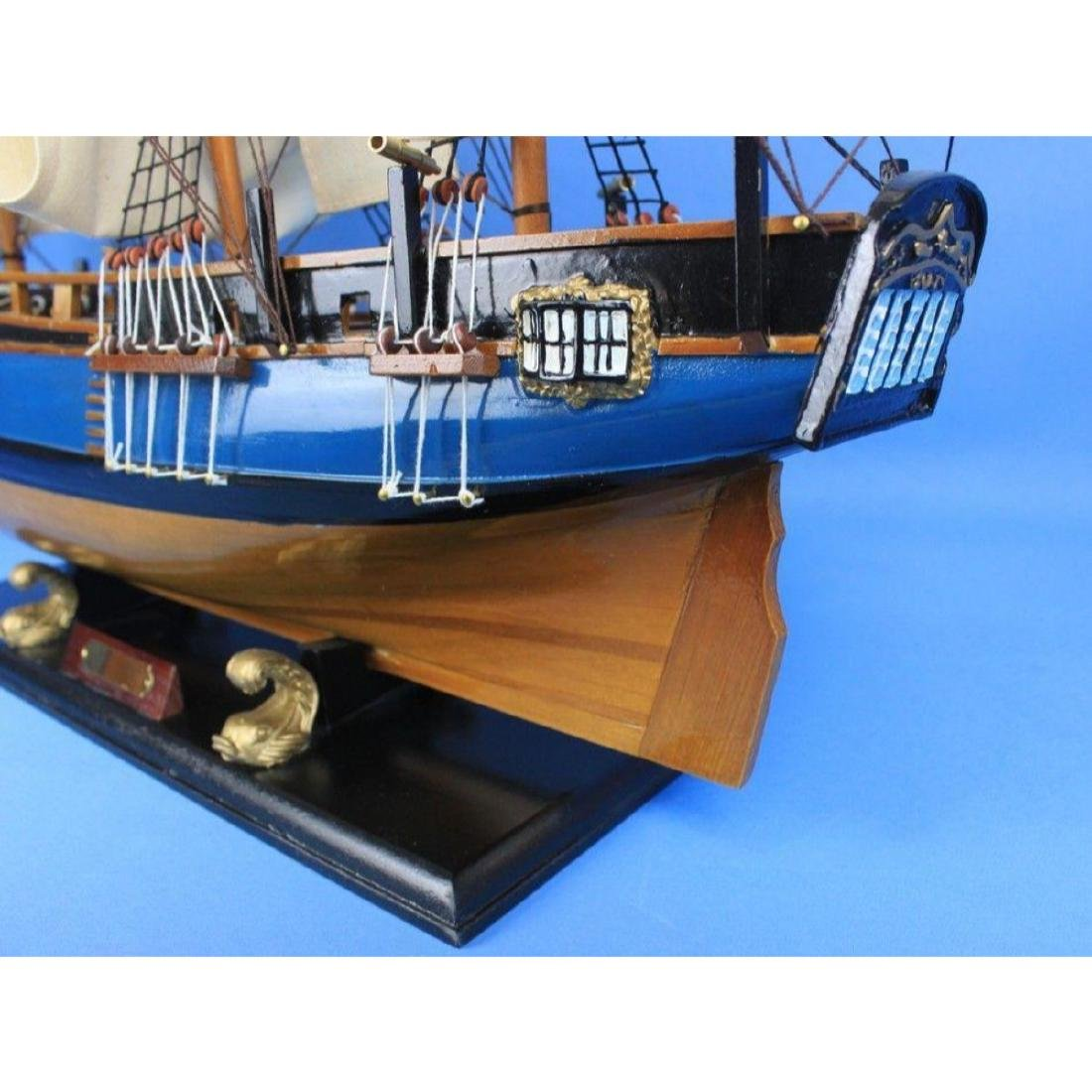 "Wooden HMS Bounty Tall Model Ship 34"" - 2"