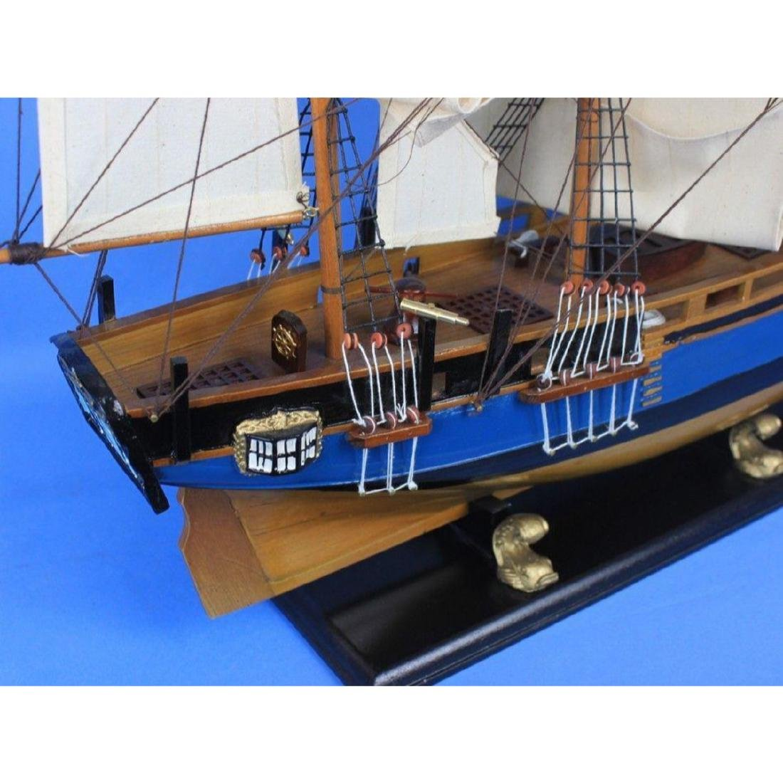 "Wooden HMS Bounty Tall Model Ship 34"" - 3"